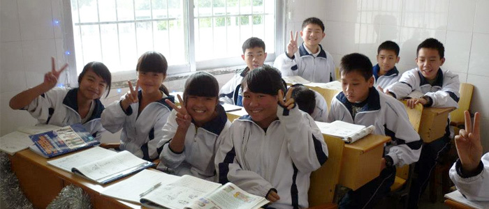 A classroom in China