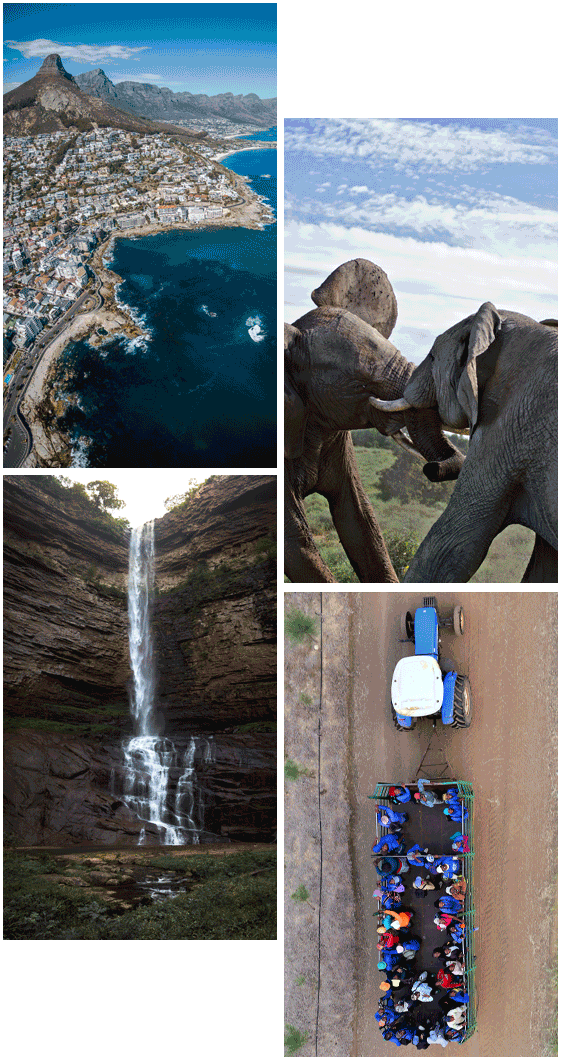 4 images of South Africa