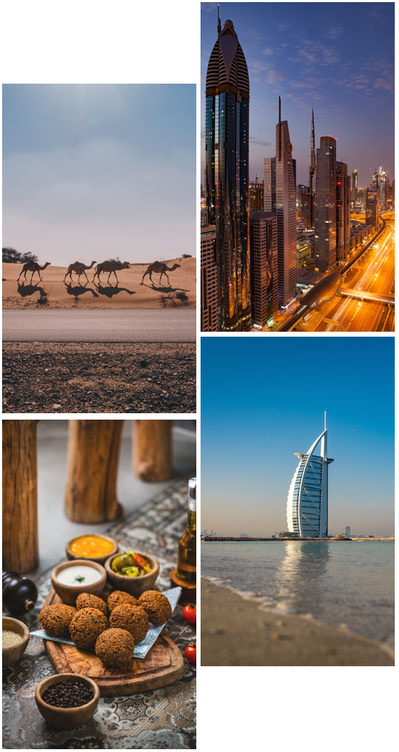 4 images of the UAE
