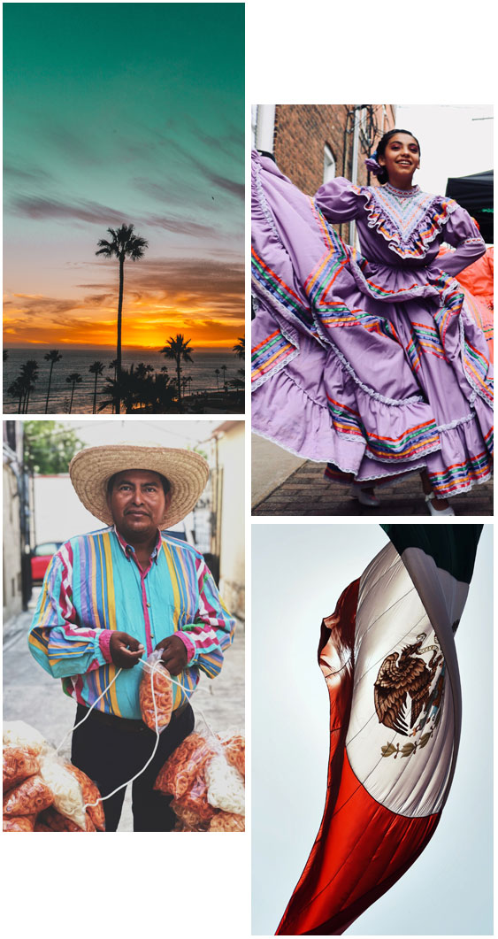 4 images of Mexico