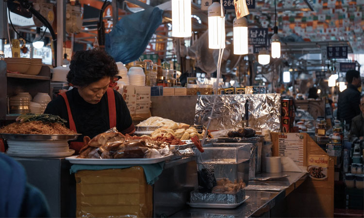 A market in South Korea