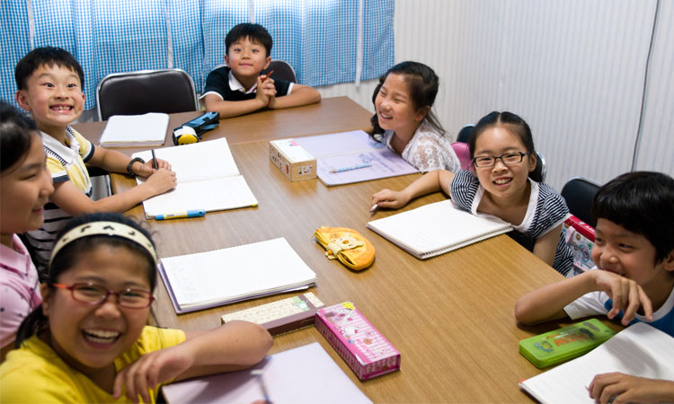 A class in South Korea