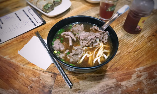 Beef noodle soup in Taiwan